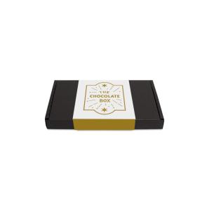 Mini Black Postal Box - Chocolate Edition