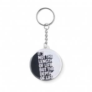 Keychain Metal Paper Inlay