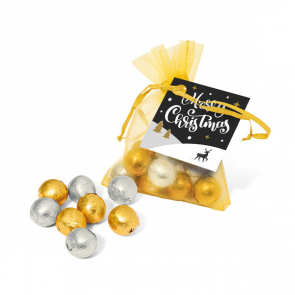 Winter Collection 2020 – Organza Bag - Foiled Chocolate Balls