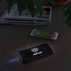 8.000 mAh Light Up Logo Wireless Black Powerbank