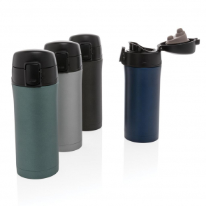 Metallic Easy Lock Vacuum Mug