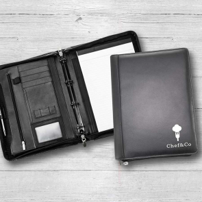 Sandringham Nappa Leather Deluxe A4 Zipped Ring Binder