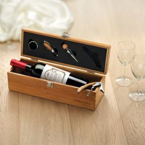 Tardor Wine Set In Bamboo Box