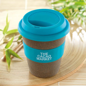 Bamboo Astoria Tumbler Bamboo Fibre with Silicon Lid & Grip