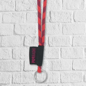 Two Tone Lanyard with Woven Label