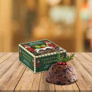 Winter Collection Eco Mini Pudding Box - 113g Christmas Pudding