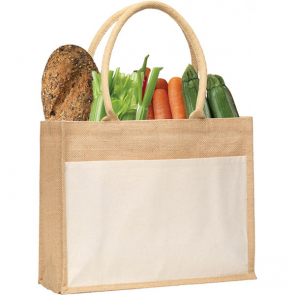 Upchurch Natural Jute Tote Bag