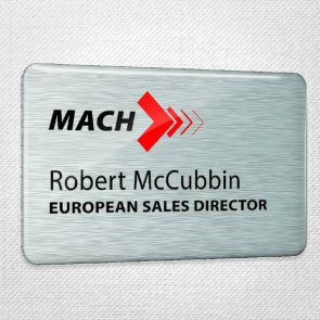 Domed Metal Name Badges