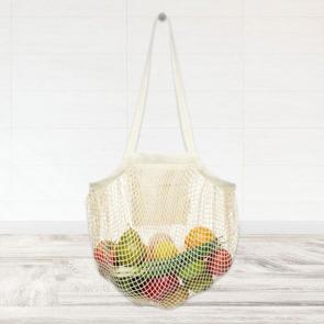 Pune 100g/m2 GOTS Organic Mesh Cotton Tote Bag