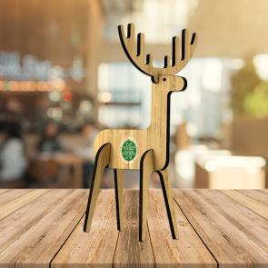 Bamboo Freestanding Christmas Reindeer