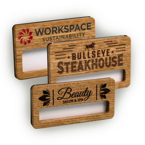 Real Wood Faced Window Badges
