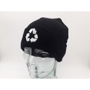 100% Recycled Polyester Knitted Beanie with turn-up