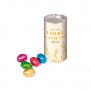 Small Snack Tube - Foiled Chocolate Eggs