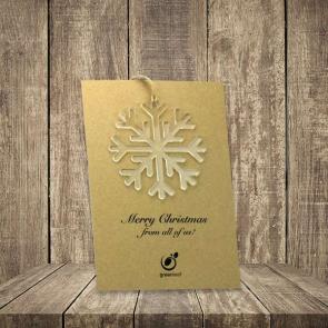 Recycled Acrylic Snowflake & Backing Card