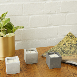 Small Concrete Vegan Candle Pot