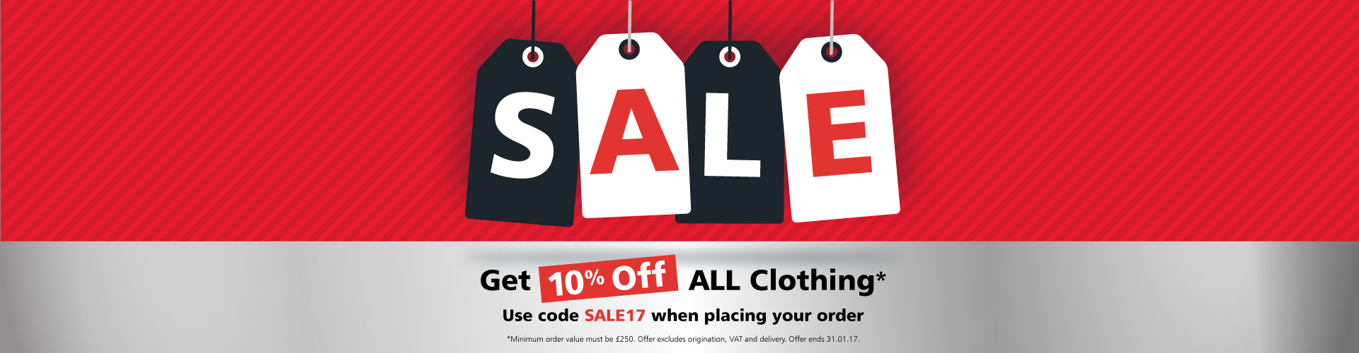 Get 10% off all clothing