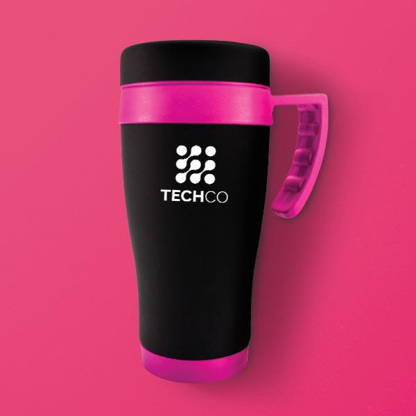 Oregan Black Branded Travel Mug