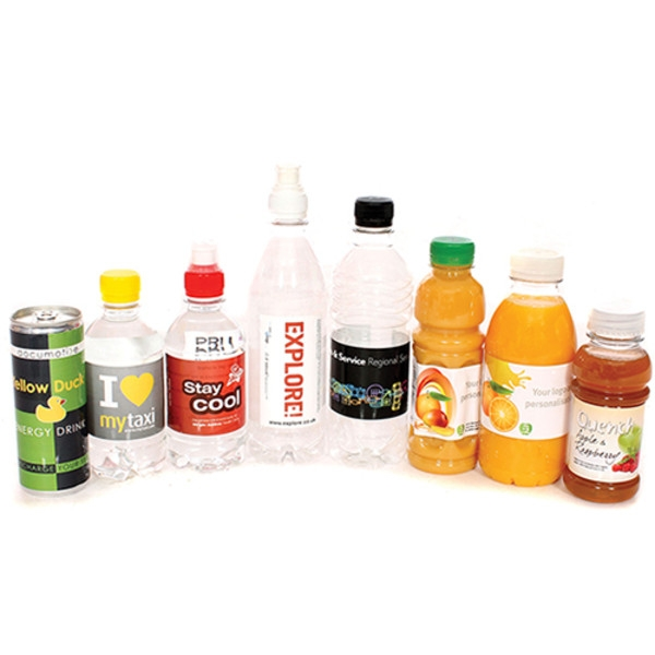 A range of energy drinks and soft drinks - a unique option for promotional food and drink