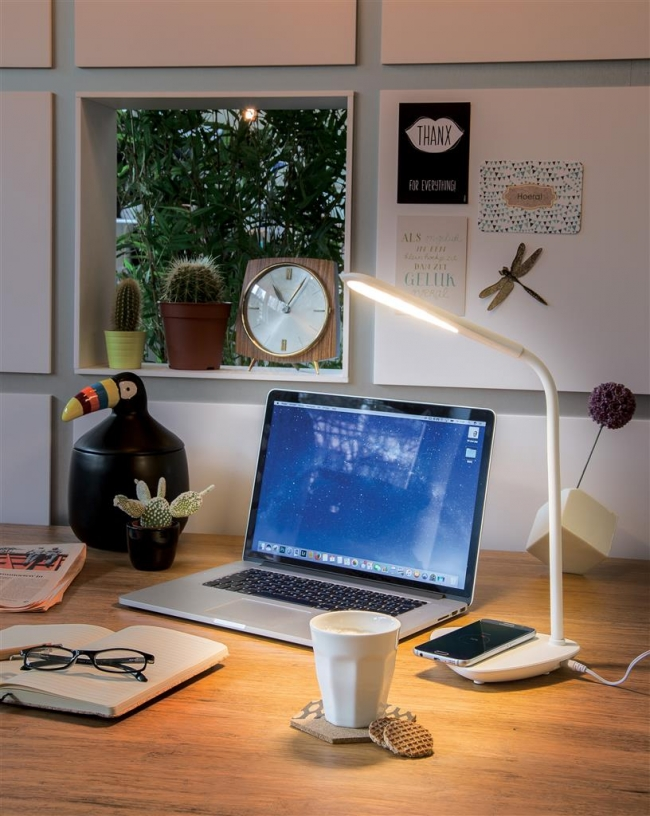 Branded Desk Lamps - Desk Lamp with Wireless Charging