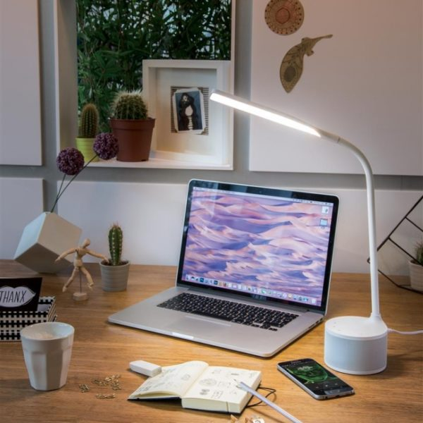 Branded Desk Lamps - USB Charging Lamp and Speaker