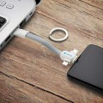 3-in-1 USB keychain cable