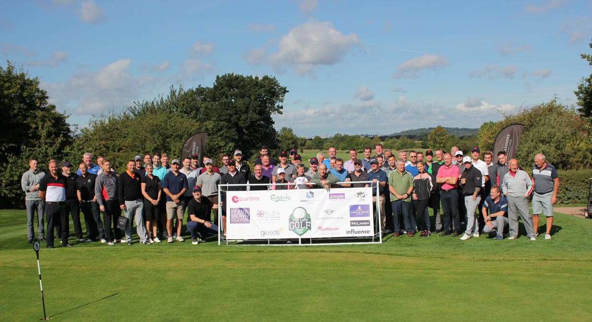 Players and sponsors of CaPs Golf Day 2018