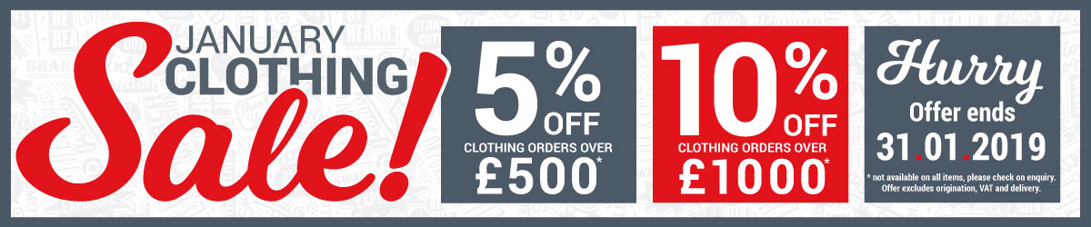 January Branded Clothing Sale