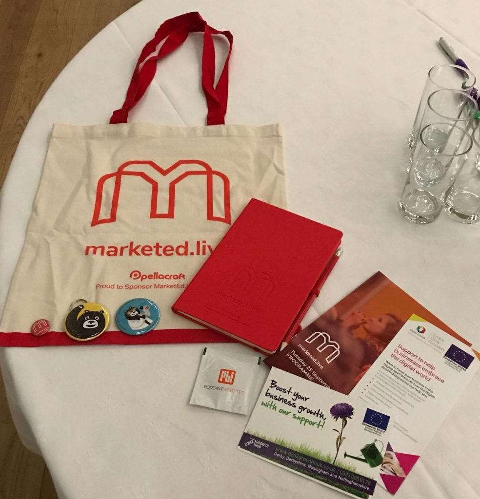 promotional merchandise for marketing we have supplied including bag notebook and pencil