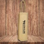 Bordeaux Wine Jute Bag
