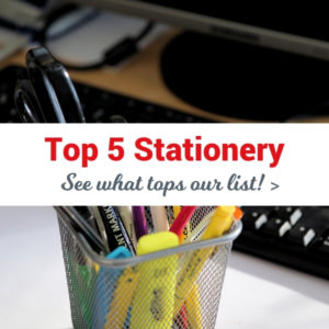 Top 5 Stationery Items and Favourites