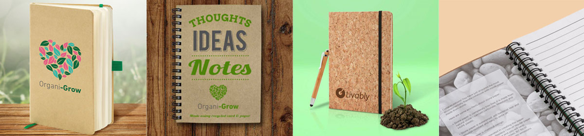 Eco and Environmentally Friendly Notebooks and Notepads