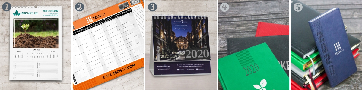Branded Calendars and Diaries 2020