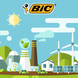BIC® biodegradable, eco-friendly and recycled pens