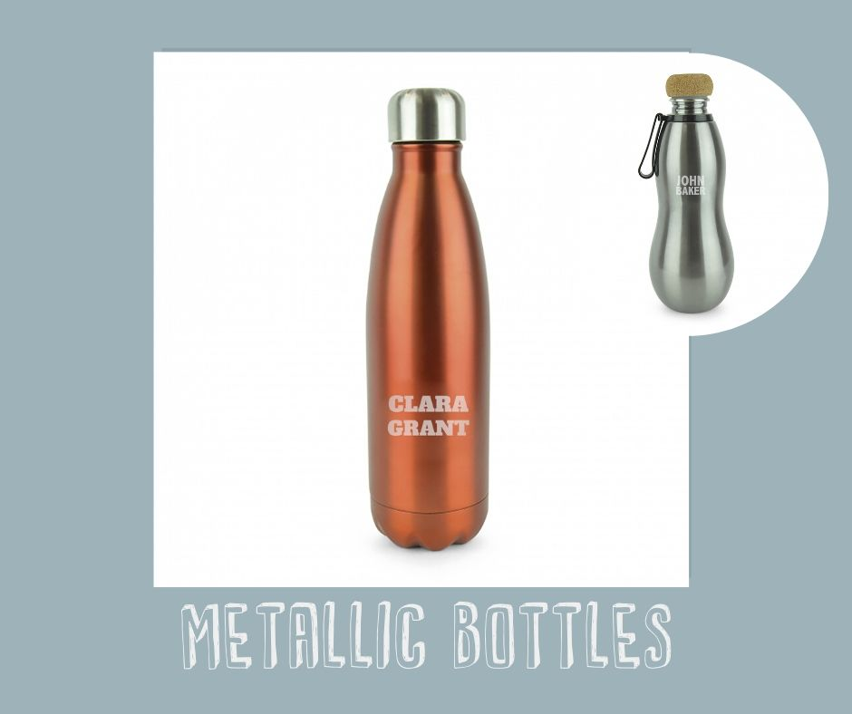 personalised branded products - Metallic bottles