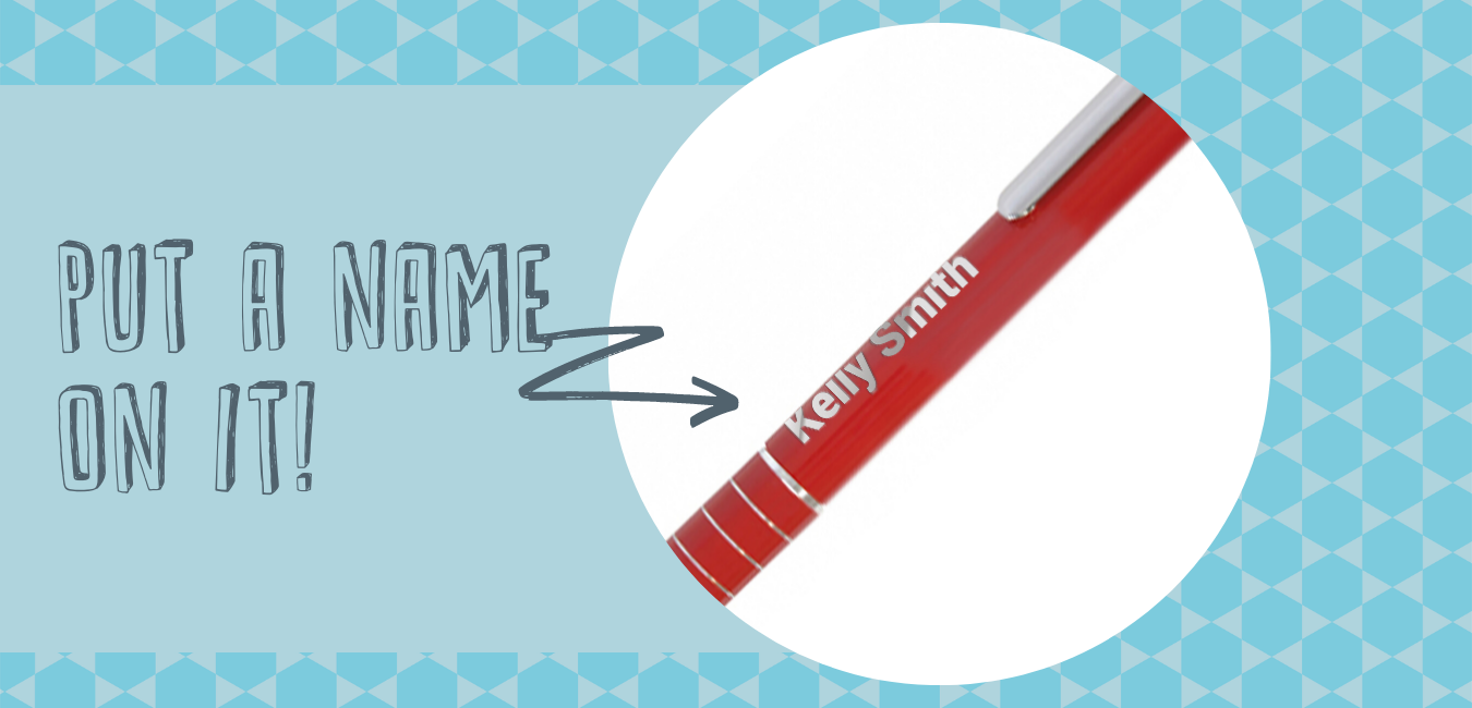 personalised branded products - pen with name on it