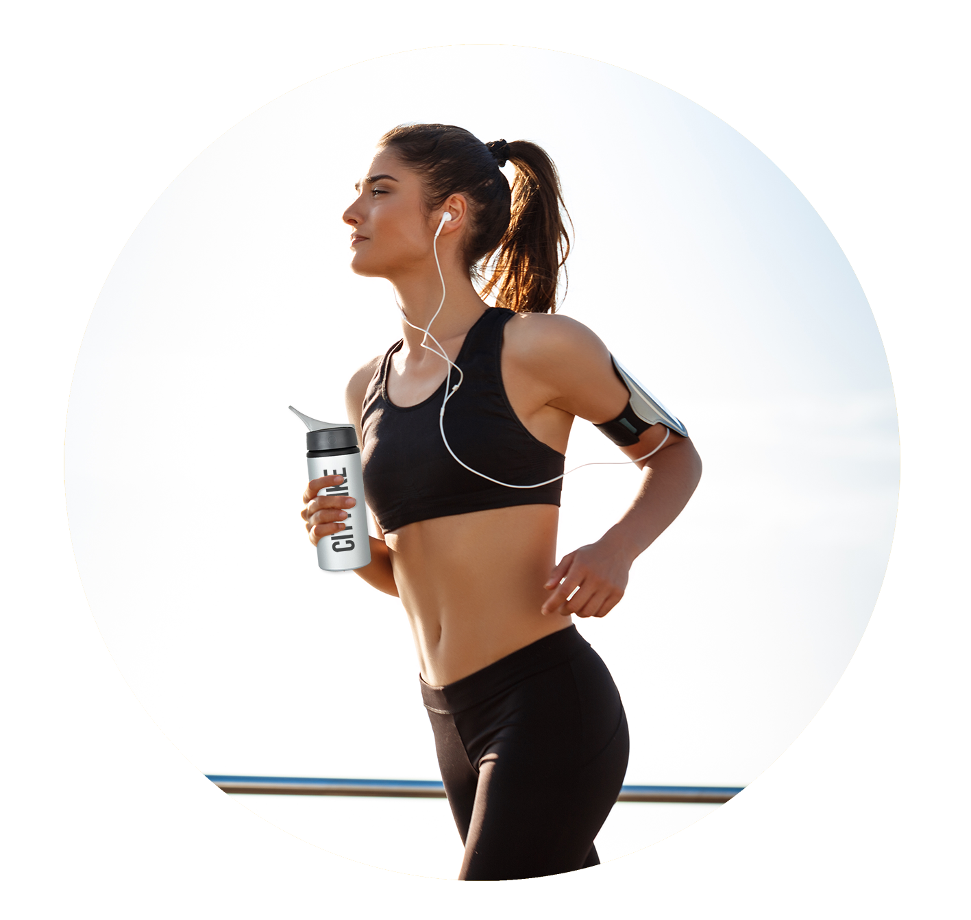Promotional running bottle earphones and armband